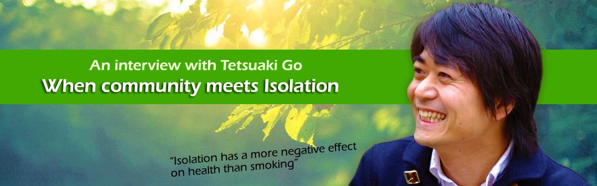 an interview with Tetsuaki Go
